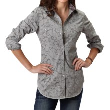 Roper Regal Line Paisley Shirt - Snap Front, Long Sleeve (For Women) in Grey - Closeouts