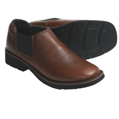 Roper Riderlite2 Shoes - Leather, Slip-On (For Women) in Brown