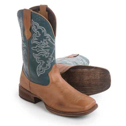 "Roper Rowdy Cowboy Boots - 11"", Square Toe (For Men) in Tan - Closeouts"