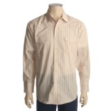 Roper Satin Dobby Stripe Shirt - Long Sleeve (For Men)