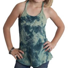 Roper Sequins Tank Top - Cotton Jersey (For Girls) in Green - Closeouts