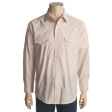 Roper Silver Lurex Stripe Shirt - Snap Front, Long Sleeve (For Men) in Brown - Closeouts