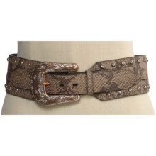 Roper Snake Print Hip Belt - Leather (For Women) in Snake Print - Closeouts