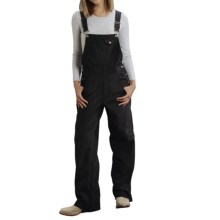 Roper Soft Shell Bib Overalls - Fleece-Lined (For Women) in Black - Closeouts
