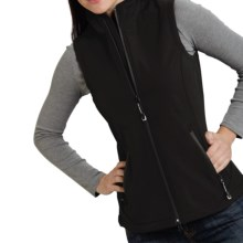Roper Soft Shell Fleece Vest (For Women) in Black - Closeouts