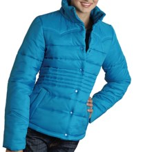 Roper Solid Quilted Nylon Jacket (For Women) in Blue/Grey - Closeouts