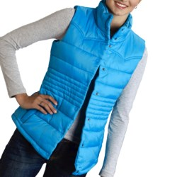 Roper Solid Vest - Quilted Nylon (For Women) in Blue