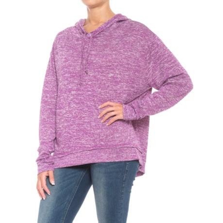 Roper Space-Dye Sweater Knit Hoodie (For Women) in Mulberry