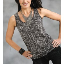 Roper Starrynight Burnout Tank Top (For Women) in Black - Closeouts