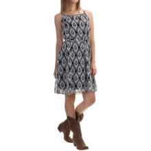 Roper Stetson Aztec-Print Chiffon Sundress - Sleeveless (For Women) in Black - Overstock