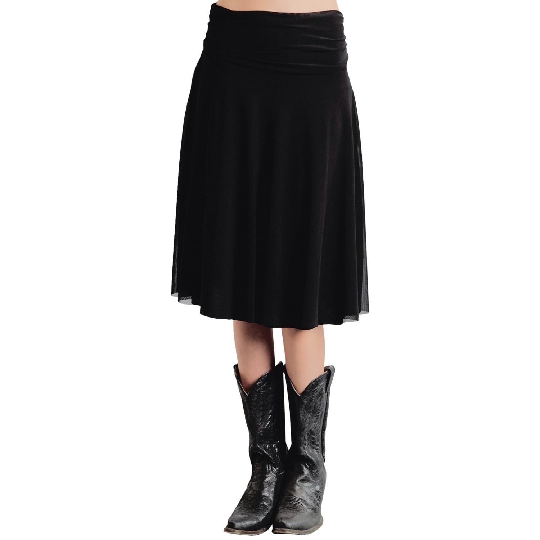 roper stretch mesh midi skirt for save 78