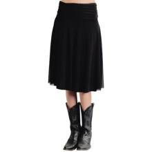 Roper Stretch Mesh Midi Skirt (For Women) in Black - Overstock