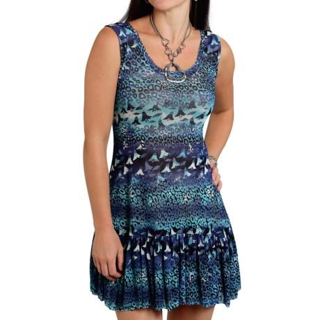 Roper Studio West Forever Blue Dress Sleeveless (For Women)