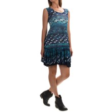 Roper Studio West Leopard and Floral Printed Dress - Sleeveless (For Women) in Blue - Overstock