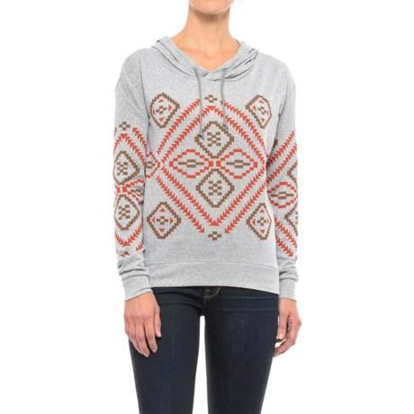 Roper Sweater Jersey Hoodie (For Women) in Grey