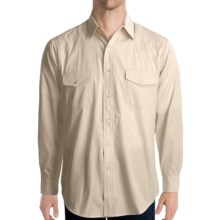 Roper Tone-on-Tone Shirt - Snap Front, Long Sleeve (For Men) in White/Ecru - Closeouts