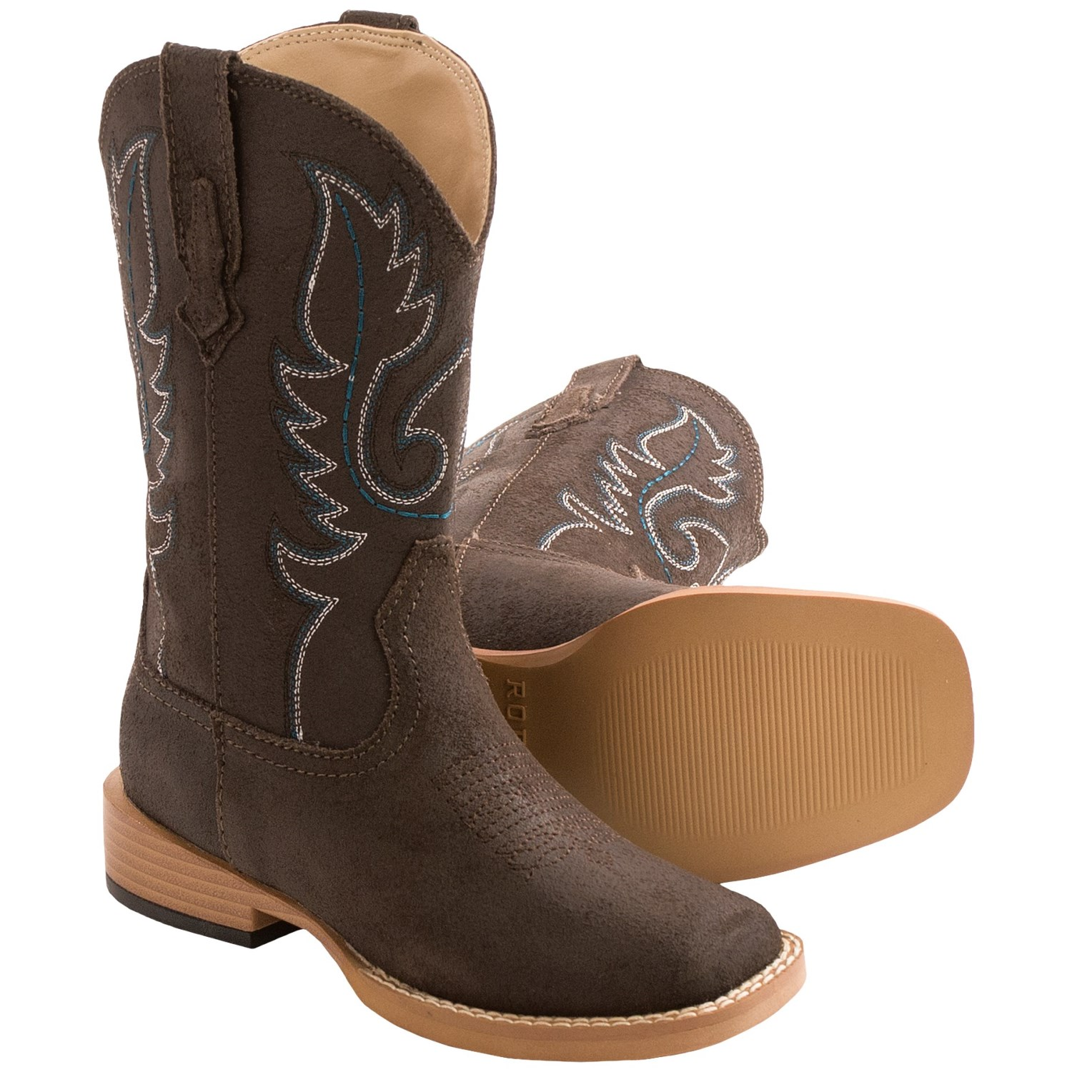 roper traditional cowboy boots leather for