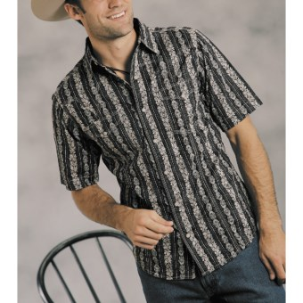 Roper Victory Shirt - Short Sleeve (For Men) in Black