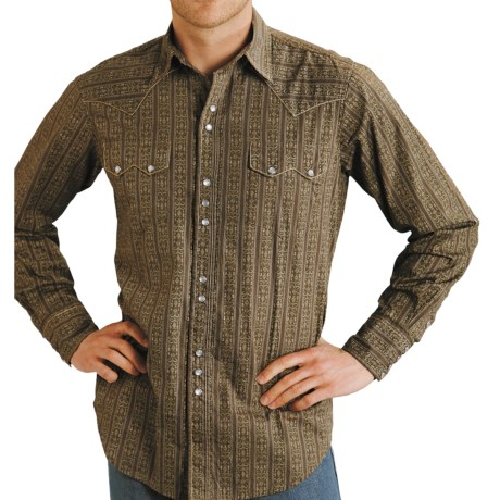 Roper Wallpaper Print Shirt - Long Sleeve (For Men) in Green