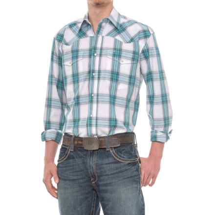 Roper Western Snap Shirt - Long Sleeve (for Men) in Purple Mesa - Closeouts
