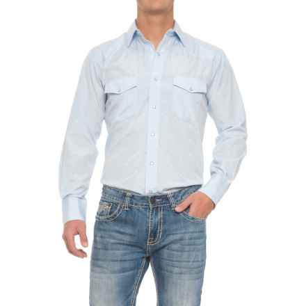 Roper Western Solid Shirt - Snap Front, Long Sleeve (For Men) in Horsehead - Closeouts