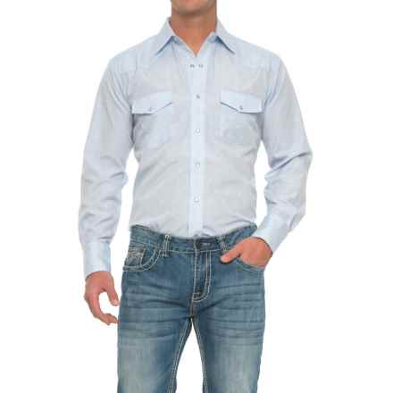Roper Western Solid Shirt - Snap Front, Long Sleeve (For Men) in Light Blue - Closeouts