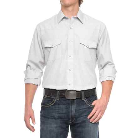 Roper Western Solid Shirt - Snap Front, Long Sleeve (For Men) in Light Grey - Closeouts