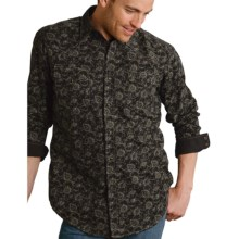 Roper Yarn-Dyed Laredo Paisley Shirt - Snap Front, Long Sleeve (For Men) in Black - Closeouts