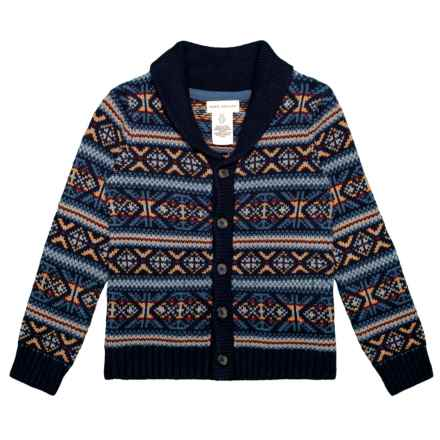 Rorie Whelan Shawl Collar Cardigan Sweater (For Toddlers) in Dino Navy - Closeouts