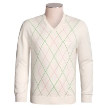Rosasen Argyle Sweater - Pima Cotton (For Men) in Zane Green - Closeouts