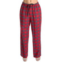 Rosch Cotton Flannel Lounge Pants (For Women) in Red Plaid - Closeouts