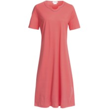Rosch Horseshoe Neck Cotton Nightshirt - Short Sleeve (For Women) in Peach - Closeouts