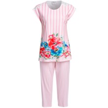 Rosch Interlock Cotton Capri Pajamas - Short Sleeve (For Women) in Original - Closeouts