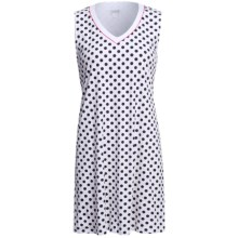 Rosch Polka-Dot Nightshirt - Sleeveless (For Women) in White/Black - Closeouts