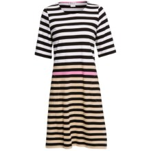 Rosch Striped Nightshirt with Pockets - 3/4 Sleeve (For Women) in White/Black - Closeouts