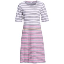 Rosch Striped Nightshirt with Pockets - 3/4 Sleeve (For Women) in White/Grey - Closeouts