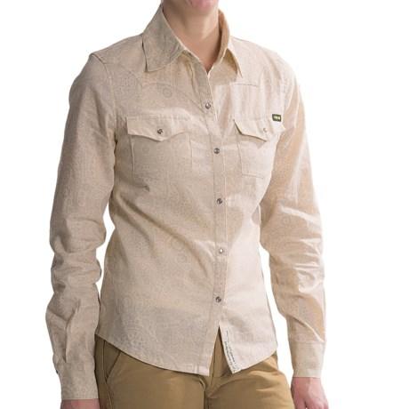 Roscoe Outdoor Clara Shirt - Hemp-Cotton, Long Sleeve (For Women) in Pasiley
