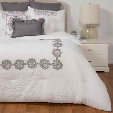 Rose of Baltimore Sutton Comforter Set - King, 8-Piece in White - Closeouts