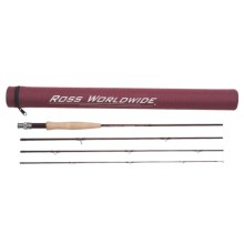 Ross Worldwide Diamond Series Fly Fishing Rod - 4-Piece, 3-6wt (For Women and Youth) in See Photo - Closeouts