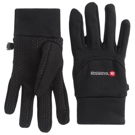 f400c413 Rossignol Back-Stitch Fleece Gloves - Touchscreen Compatible (For Men) in  Black -