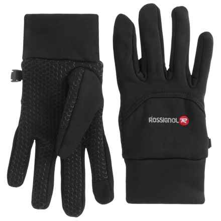 Rossignol Back-Stitch Fleece Gloves - Touchscreen Compatible (For Men) in Black - Closeouts