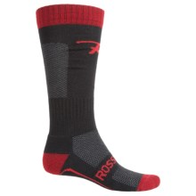 Rossignol Boot Fitter Socks - Alpaca, Over the Calf (For Men) in Black/Red - Closeouts