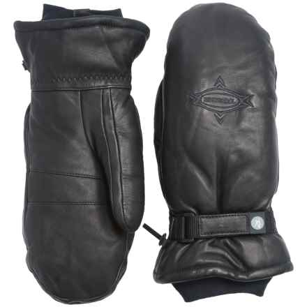 Rossignol Butter Ski Mittens - Sheepskin, Insulated (For Men) in Black - Closeouts