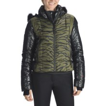 Rossignol Clemence Down Print Jacket with Fur Trim - 650 Fill Power (For Women) in Moss - Closeouts