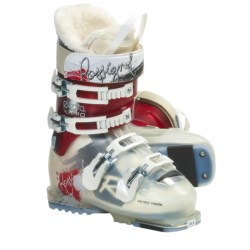 Rossignol Electra SI 110 Apline Ski Boots (For Women) in Red/Transparent