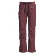 Rossignol Flared Fire Snow Pants - Insulated (For Women) in Burgundy - Closeouts