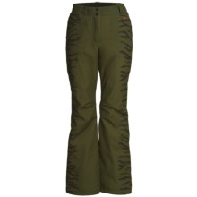 Rossignol Geny Print Ski Pants - Waterproof, Insulated (For Women) in Moss - Closeouts