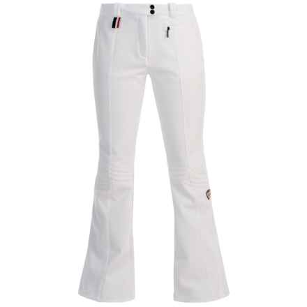 Rossignol Grace Soft Shell Ski Pants - Waterproof, Slim Fit, Zip Pocket (For Women) in White - Closeouts