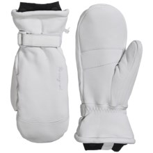Rossignol Inverness Thinsulate® Ski Mittens - Leather, Insulated (For Women) in White - Closeouts