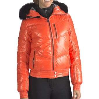 Rossignol Liz Down Shiny Jacket - 550 Fill Power (For Women) in Garance